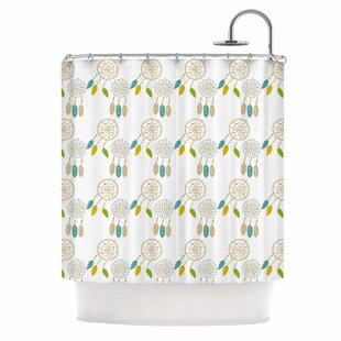 'Dream Catchers' Digital Single Shower Curtain
