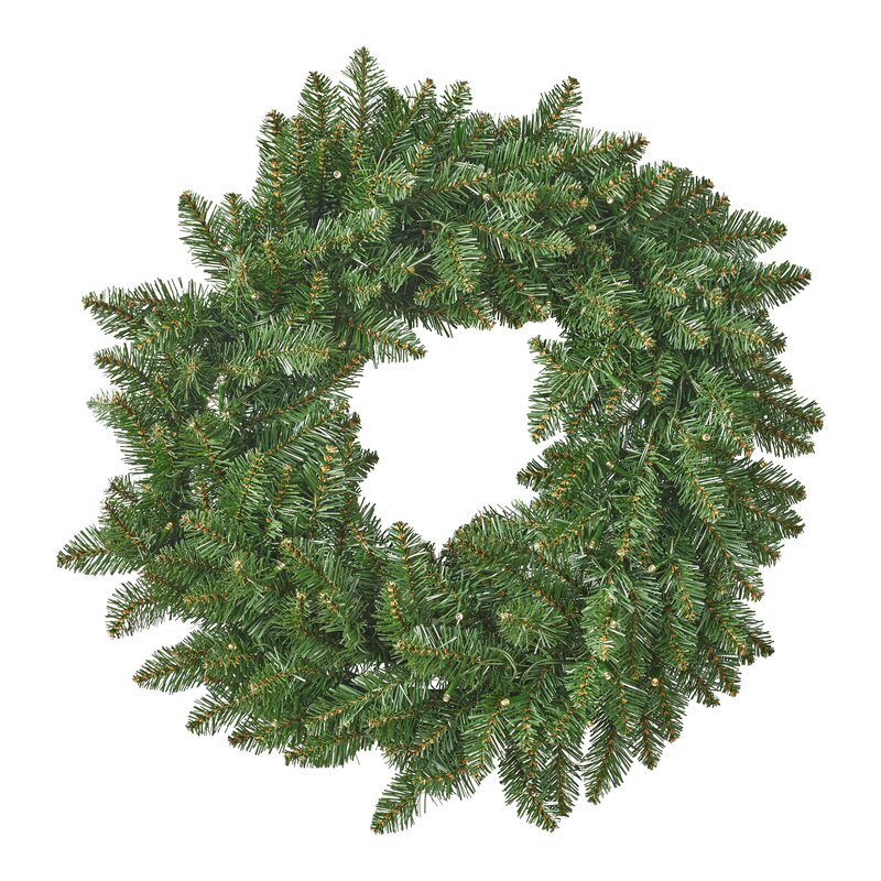 norway spruce christmas 24 lighted pvc wreath