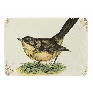 Vintage Bird by NL Designs Memory Foam Bath Mat