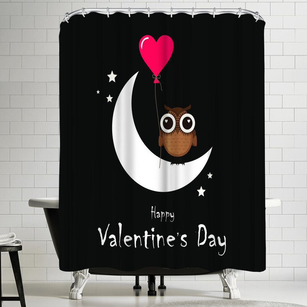 East Urban Home Wonderful Dream Owl Valentine Day Single Shower Curtain Wayfair