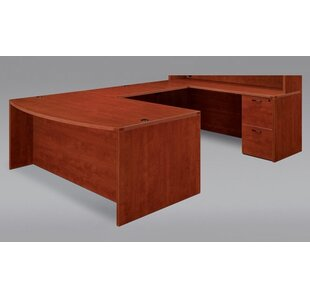Fairplex Bow Front U-Shape Executive Desk by Flexsteel Contract