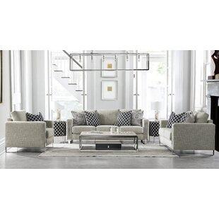 Acanva Contemporary Down-Filled 3 Piece Living Room Set by Orren Ellis