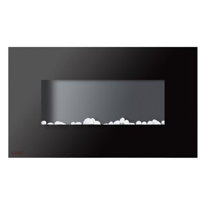 Royal Wall Mounted Electric Fireplace with Pebbles by Ignis Products