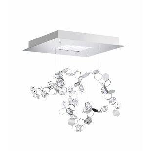 Crystalon 4-Light LED Cluster Pendant by Swarovski