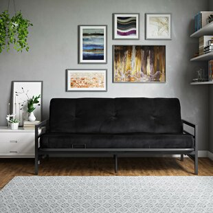 Clearance Oshields Metal Arm Futon and Mattress by Red Barrel Studio Reviews (2019) & Buyer's Guide
