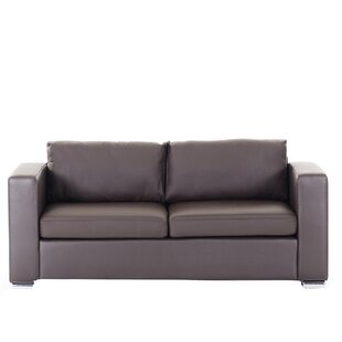 Jordon Leather Sofa Orren Ellis