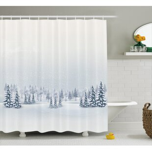 Compare & Buy Romero Winter Scene Shower Curtain By Winston Porter