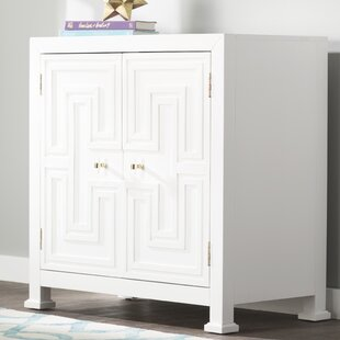 Hollins Geometric Overlay 2 Door Accent Cabinet by Mercer41