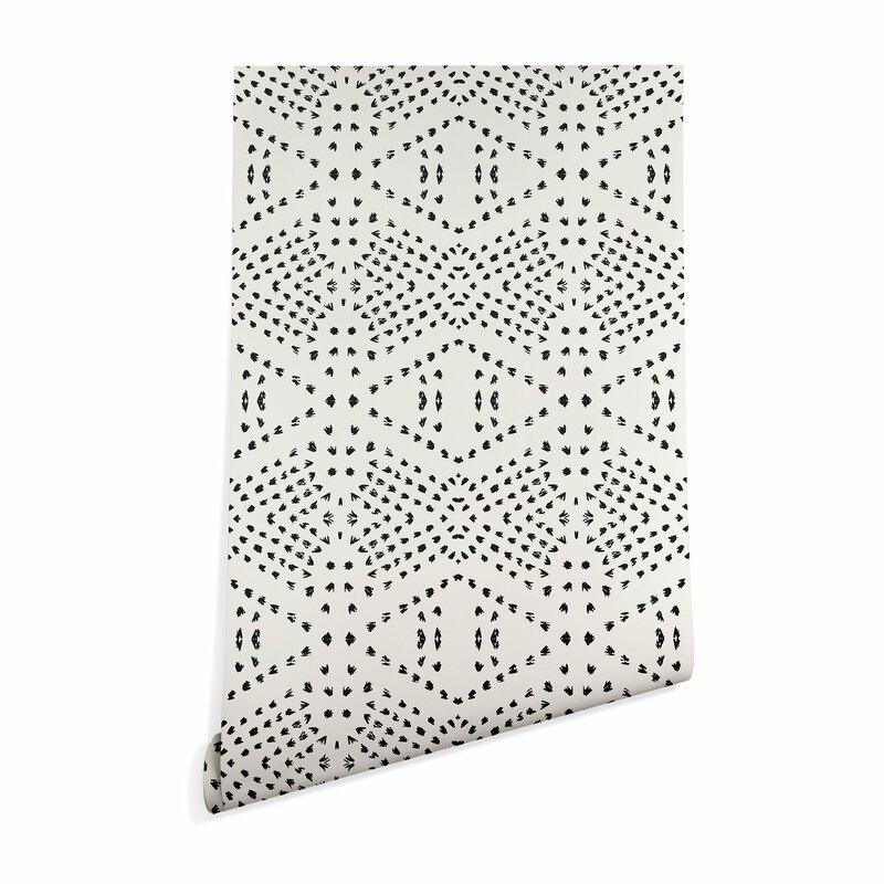Tile Matte Smooth Peel And Stick Wallpaper Roll Reviews Allmodern