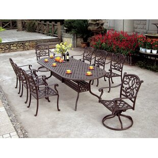 Calhoun Traditional 9 Piece Dining Set with Cushions