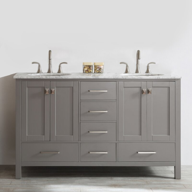 Unique Double Bathroom Vanities New Design Ideas