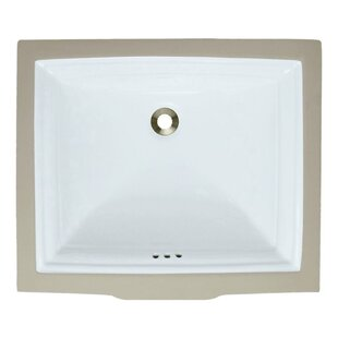 Find a Vitreous China Rectangular Undermount Bathroom Sink with Overflow By MR Direct
