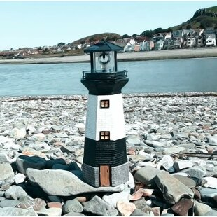 Gilead Large Solar Power Lighthouse 1-Light LED Decorative And Accent Light By Breakwater Bay