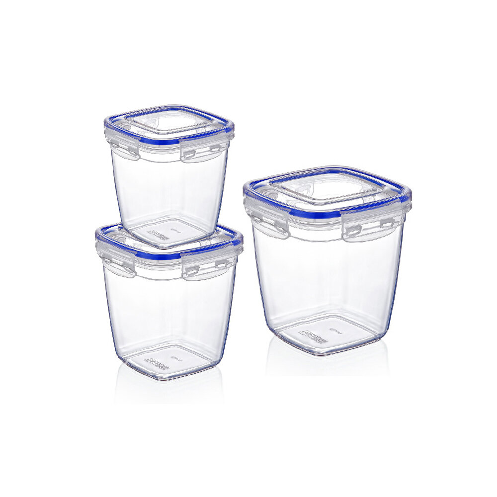 Rebrilliant Carpenter Square Deep Sealed 3 Container Food Storage Set Wayfair