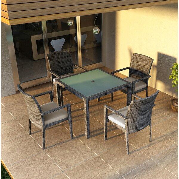 Rosecliff Heights Hobbs 5 Piece Sunbrella Dining Set With Cushions Wayfair