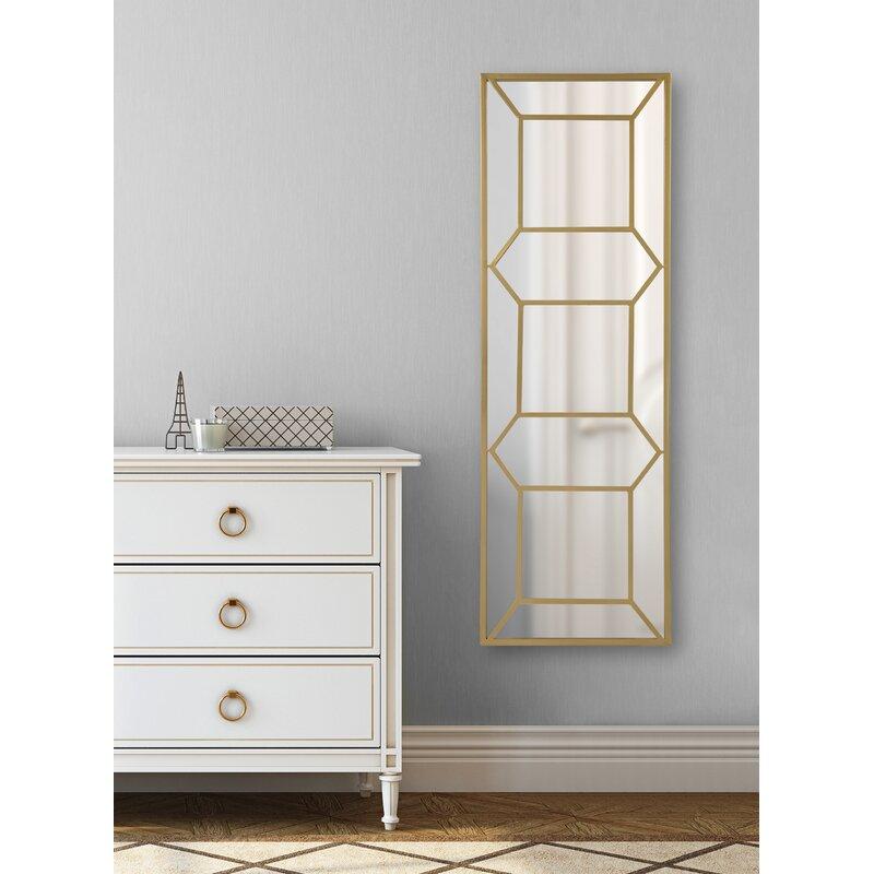 Mercer41 Eben Trellis Panel Beveled Wall Mirror | Wayfair