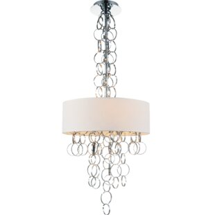 CWI Lighting Chained 4-Light Chandelier