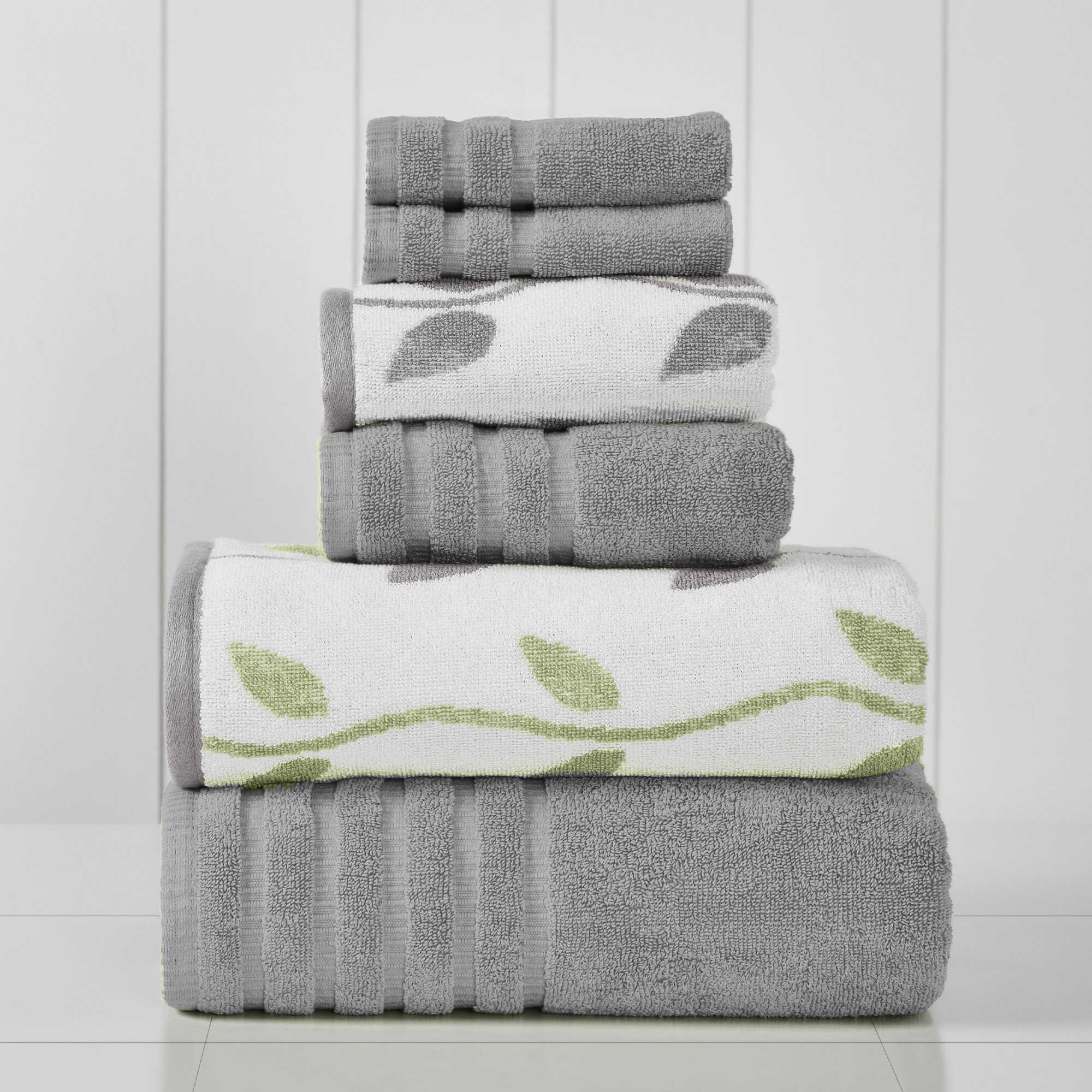 Floral Gray Silver Bath Towels You Ll Love In 2021 Wayfair