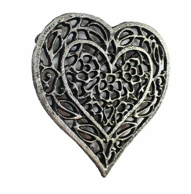 Heart Shaped Cast Iron Trivet