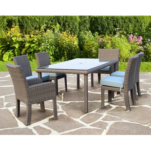 Rosecliff Heights Losey 7 Piece Dining Set with Cushion