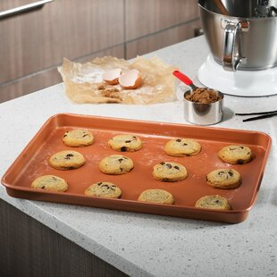 Nonstick Gotham Steel Copper Cookie Sheet and Jelly Roll Baking Pan