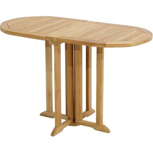 Markley Folding Teak Dining Table By Sol 72 Outdoor