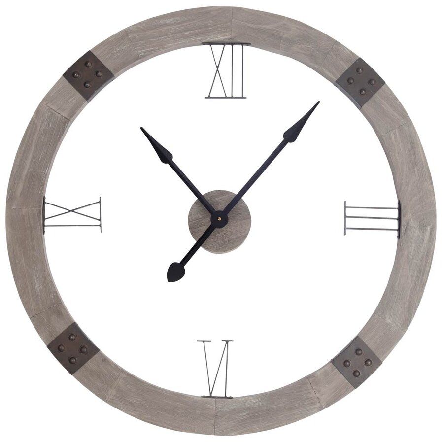 wooden clock wayfair