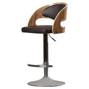 Lanesboro Adjustable Height Swivel Bar Stool by Wade Logan