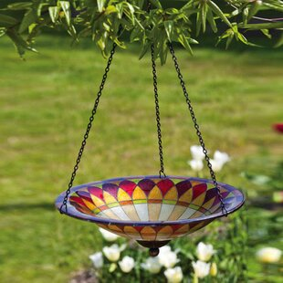 Evergreen Flag & Garden Tiffany Hanging Birdbath