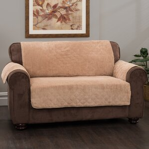 Plush Stripe Box Cushion Loveseat Slipcover by Innovative Textile Solutions