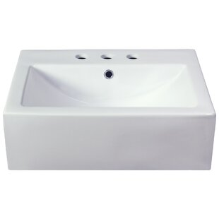 Royal Purple Bath Kitchen Semi-Recessed Rectangular Vessel Bathroom Sink
