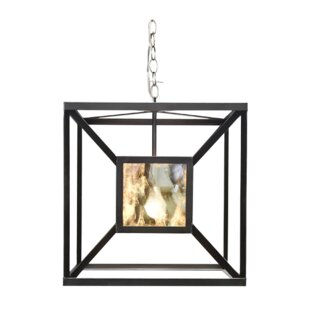 Box 1-Light Square/Rectangle Pendant by Worlds Away