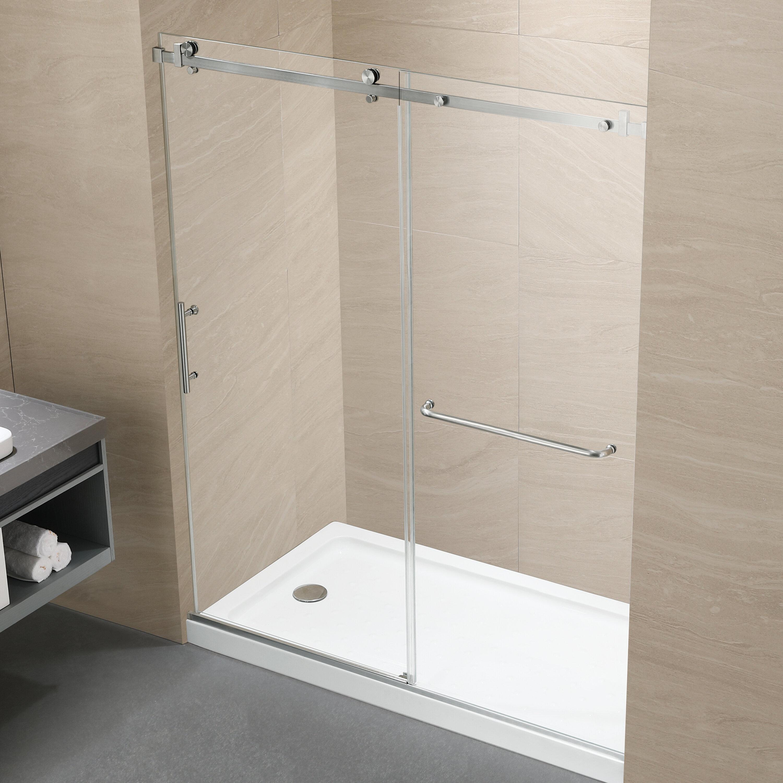 H Single Sliding Frameless Shower