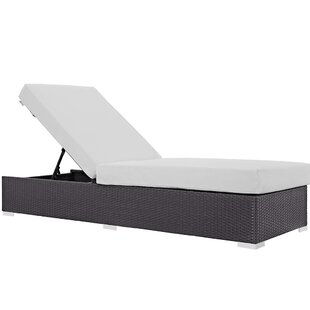 Check Prices Brentwood Contemporary Chaise Lounge with Cushion Inexpensive