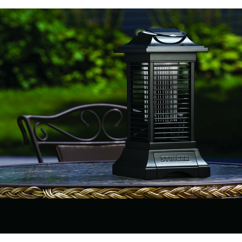 Stinger Insect Cordless Black Battery Powered LED Outdoor Bug Zapper Lantern