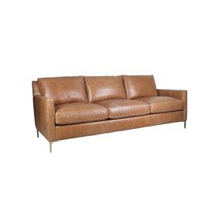 Wrought Studio Nenita Leather Sofa