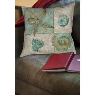 Averill Sea Life Printed Throw Pillow