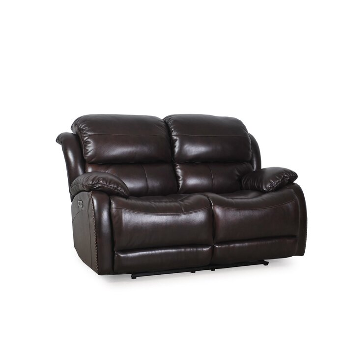Incredible Kimpel Leather Reclining Loveseat Pabps2019 Chair Design Images Pabps2019Com