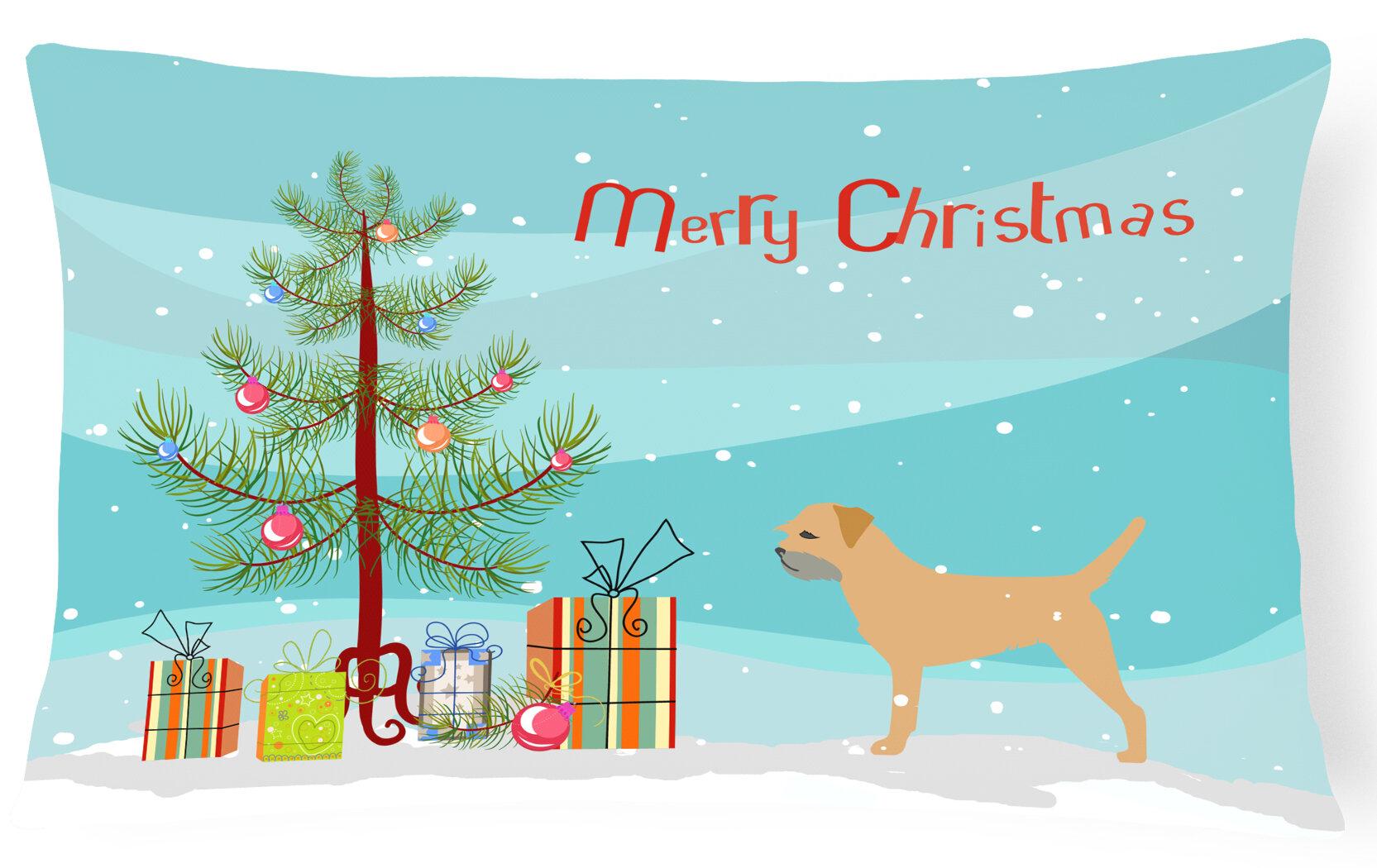 The Holiday Aisle Border Terrier Indoor Outdoor Lumbar Pillow Wayfair