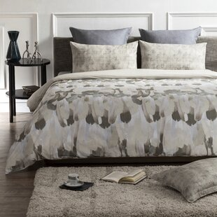 Creighton 100% Organic Cotton Wrinkle Free Reversible Duvet Cover Set.