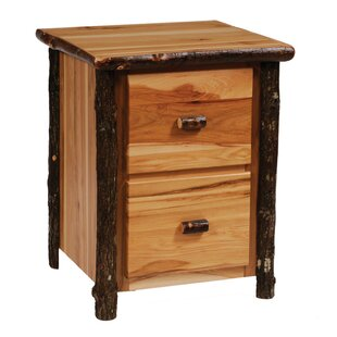 Hickory 2-Drawer File Cabinet by Fireside Lodge Savings