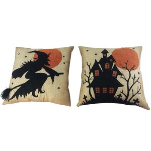 2 Piece Halloween Throw Pillow Set