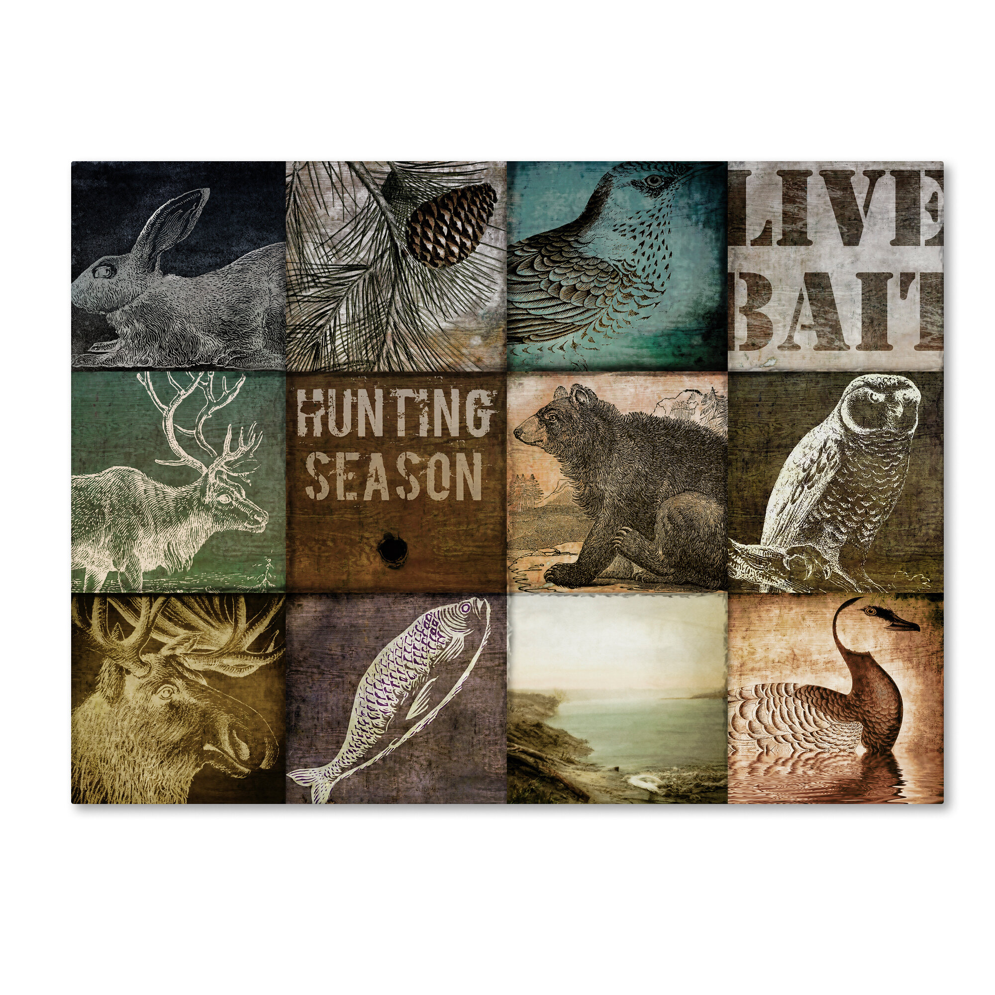 Trademark Art Hunting Season I By Color Bakery Graphic Art On Wrapped Canvas Wayfair