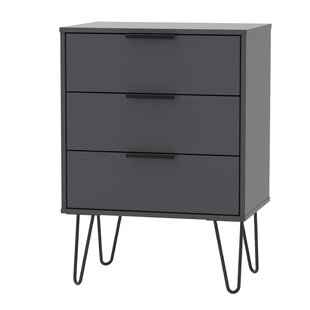 Falls City 3 Drawer Chest By Mercury Row