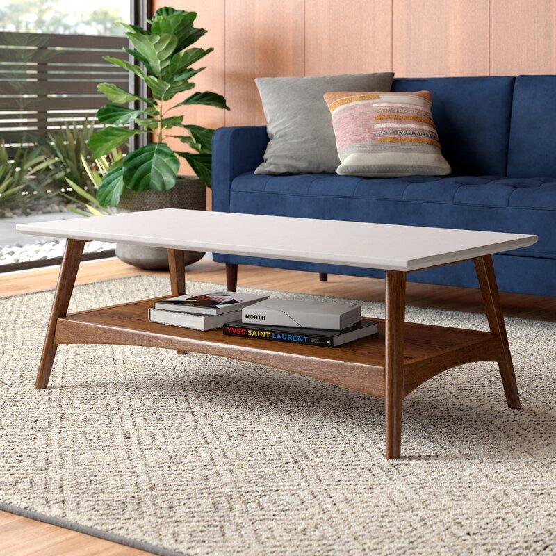 Allmodern Burnes Coffee Table With Storage Reviews Wayfair