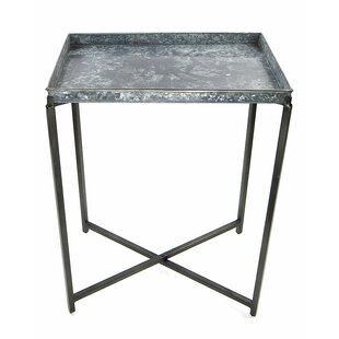 Alessio Metal Pub Table by 17 Stories
