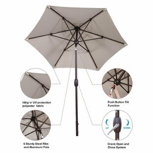 Charlton Home Jarrod Patio 7.5' Market Umbrella
