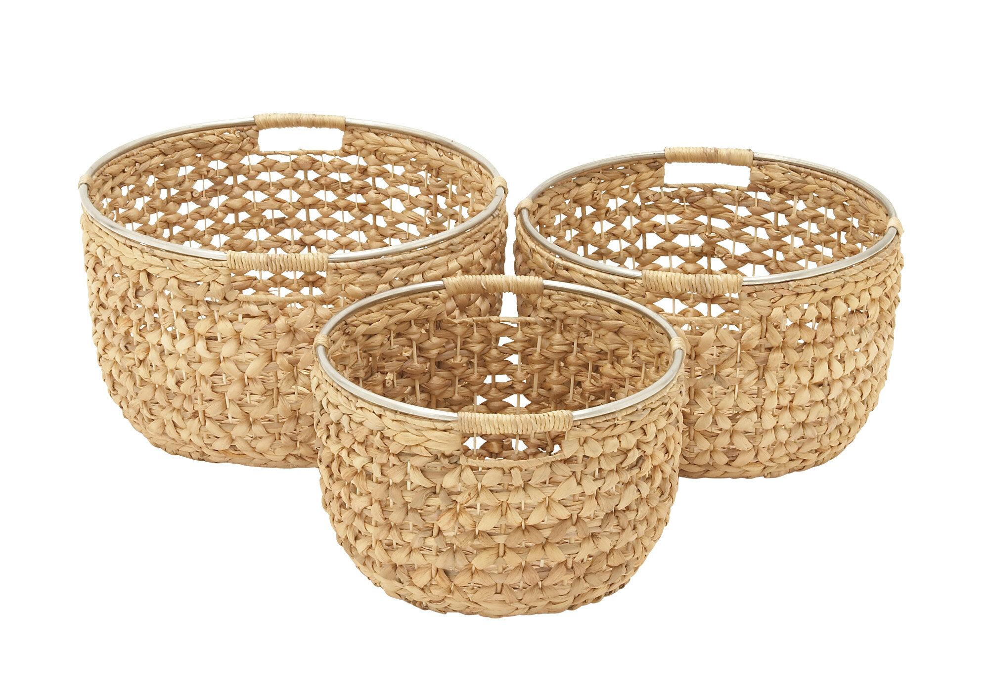 3 Piece Seagrass Basket Set Reviews Joss Main