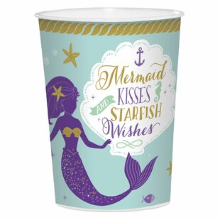 Mermaid Wishes Plastic Disposable Every Day Cup (Set of 15)