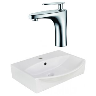 Order Xena Farmhouse Ceramic 19.5 Bathroom Sink with Faucet and Overflow ByRoyal Purple Bath Kitchen